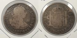 World Coins - MEXICO: 1774-Mo FM Charles III 2 Reales