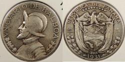 World Coins - PANAMA: 1931 Key date. 1/4 Balboa