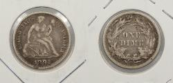 Us Coins - 1891 Seated Liberty 10 Cents (Dime)