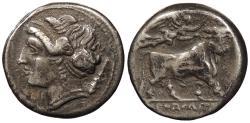 Ancient Coins - Campania Neapolis c. 325-241 B.C. Didrachm VF