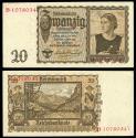 World Coins - GERMANY Third Reich Reichsbank 15 June 1939 20 Reichsmark EF