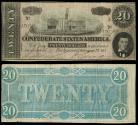 Us Coins - Richmond, VA Feb. 17th, 1864 20 Dollars VF