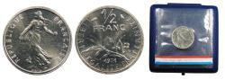World Coins - FRANCE 1971 Piedfort 1/2 Franc BU