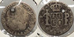 World Coins - BOLIVIA: Spanish Colonial 1809 Key Date. 1/2 Real
