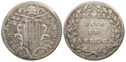 World Coins - ITALIAN STATES Papal States Benedict XIV Anno IV (1743) Grosso Good VF
