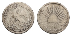 World Coins - MEXICO 1833-Go MJ Real VG