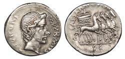Ancient Coins - Augustus 27 B.C. - 14 A.D. Denarius Rome Mint Good VF