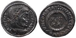 Ancient Coins - Constantine I, the Great 307-337 A.D. Follis Arles Mint EF