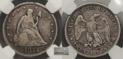 Us Coins - 1875 CC 20 Cents NGC F-12