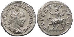Ancient Coins - Philip I 244-249 A.D. Antoninianus Rome Mint EF Ex Kenneth Brattlie Collection, includes ticket.