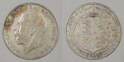 World Coins - GREAT BRITAIN: 1925 Key date. Halfcrown