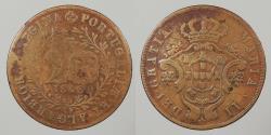 World Coins - AZORES: 1843 20 Reis