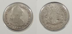 World Coins - MEXICO: 1808/7-Mo TH Overdate; Charles IV Real