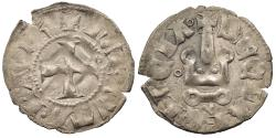 World Coins - CRUSADERS Frankish Greece: Principality of Achaia Maud de Hainaut 1316-1318 Denier Nice VF