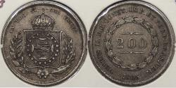 World Coins - BRAZIL: 1865 200 Reis