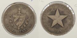 World Coins - CUBA: 1915 20 Centavos