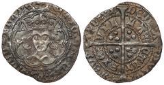 World Coins - ENGLAND Henry VI 1st Reign, 1422-1461 Groat Annulet issue; 1422-1430 EF
