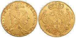 World Coins - BRITISH WEST INDIES Uncertain Caribbean Island (private mint) 1788-R Contemporary imitation 'Joe' (6400 Reis) EF