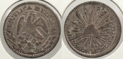 World Coins - MEXICO: 1858-Za MO Real