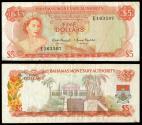 World Coins - BAHAMAS Bahamas Monetary Authority 1968 5 Dollars
