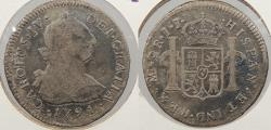 World Coins - PERU: 1791-LIMAE IJ Charles IV 2 Reales