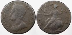 World Coins - GREAT BRITAIN: 1745 Halfpenny