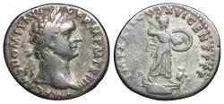 Ancient Coins - Domitian 81-96 A.D. Denarius Rome Mint VF