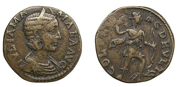 Ancient Coins - Thrace Deultum Julia Mamaea, mother of Severus Alexander Died 235 AD 4 Assaria VF