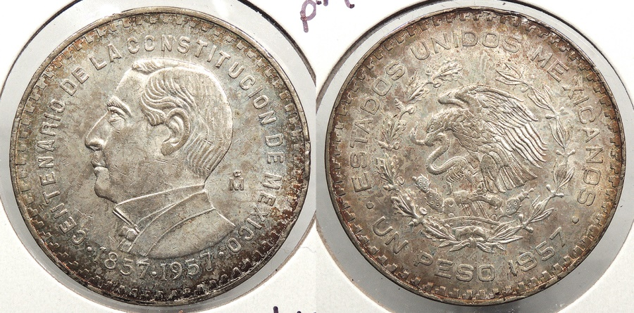 World Coins - MEXICO: 1957-Mo Peso