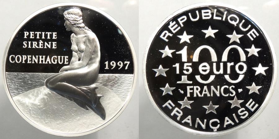 World Coins - FRANCE: 1997 100 Francs/15 Euros
