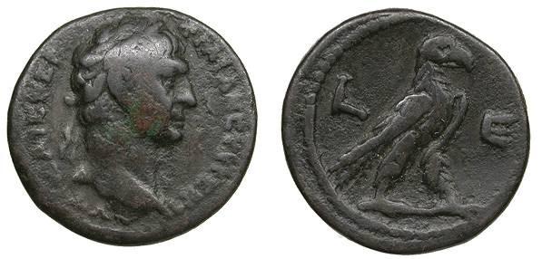 Ancient Coins - Egypt Alexandria Trajan 98-117 A.D. Tetradrachm Alexandria Mint Good Fine