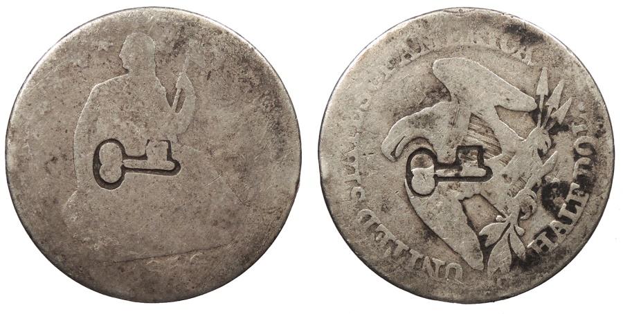 World Coins - CUBA Revolutionary coinage? ND (Ca. 1871-1877) 50 Centavos (4 Reales) VF