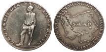 World Coins - GERMANY Third Reich Saar by F. Kölle 1935 AR 36mm Medal AU