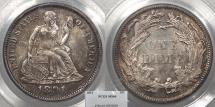 Us Coins - 1891 Seated Liberty 10 Cents (Dime) PCGS MS-64