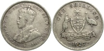 World Coins - AUSTRALIA: 1927 1 Shilling
