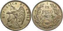 World Coins - CHILE: 1922-So 1 Peso