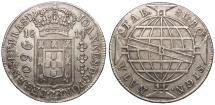 World Coins - BRAZIL Joao, Prince Regent 1814-R 960 Reis EF