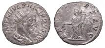 Ancient Coins - Philip I 244-249 AD Antoninianus Antioch Mint Good VF
