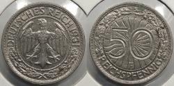 World Coins - GERMANY: Weimar Republic 1931-F 50 Pfennig