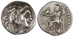 Ancient Coins - Kings of Macedon Alexander III (The Great) 336-323 B.C. Drachm VF