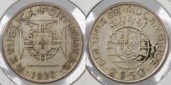 World Coins - MOZAMBIQUE: 1938 2-1/2 Escudos