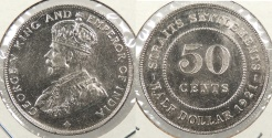 World Coins - STRAITS SETTLEMENTS: 1921 50 Cents