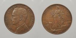 World Coins - ITALY: 1909 5 Centesimi