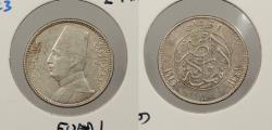 World Coins - EGYPT: AH 1341 / 1929 Fuad I 2 Piastres