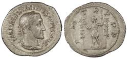 Ancient Coins - Maximinus I 235-238 A.D. Denarius Rome Mint Near EF