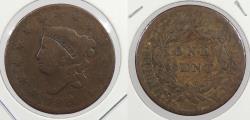 Us Coins - 1820/19 Matron Head 1 Cent Overdate