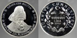 World Coins - TURKEY: 2002 10,000,000 Lira Proof