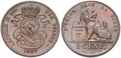 World Coins - BELGIUM: 1902 1 Centime