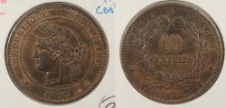 World Coins - FRANCE: 1897-A 10 Centimes