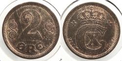 World Coins - DENMARK: 1915 2 Ore